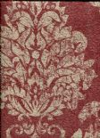 Toscani Wallpaper Giorgio Red/Gold  35693 By Holden Decor For Colemans